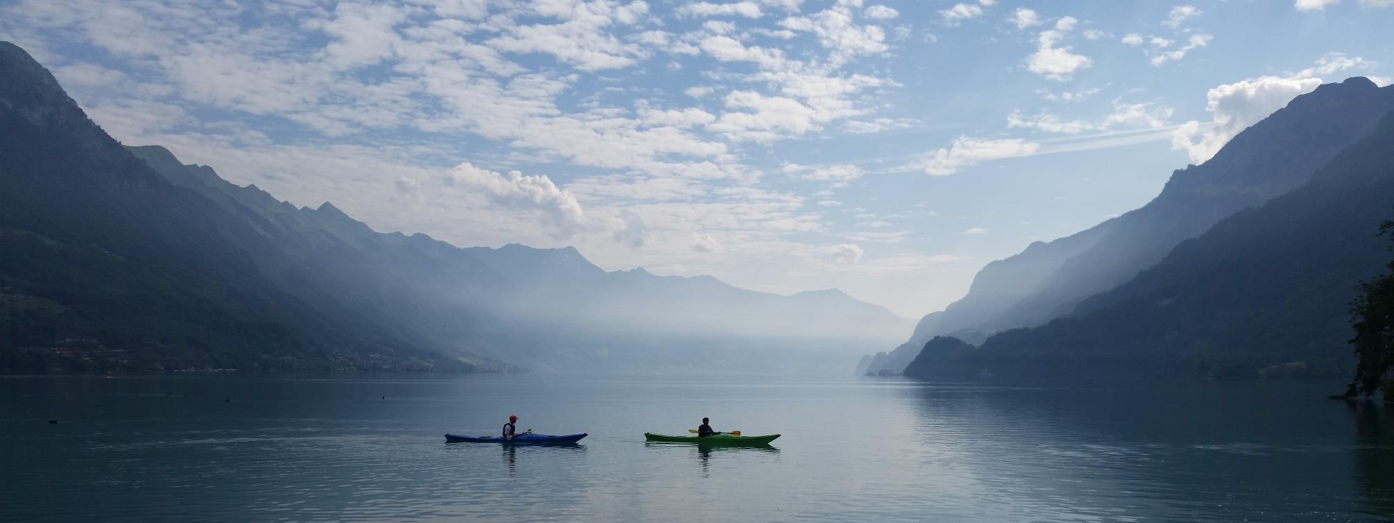KAYAKING ON LAKE THUN AND LAKE BRIENZ